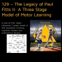 Artwork for 129 – The Legacy of Paul Fitts II: A Three Stage Model of Motor Learning