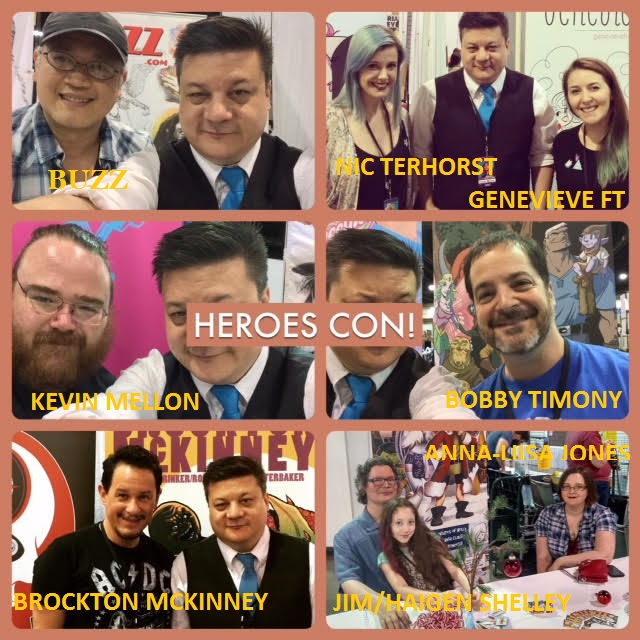 Episode 697 - Even More Heroes Con: Interview Special w/ Bobby Timony/Kevin Mellon/Brockton McKinney/Buzz/Nic ter Horst/Genevieve FT/Anna-Liisa Jones/Haigen Shelley/Jim Shelley!