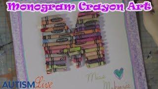 Smarty - December Monogram Crayon Art