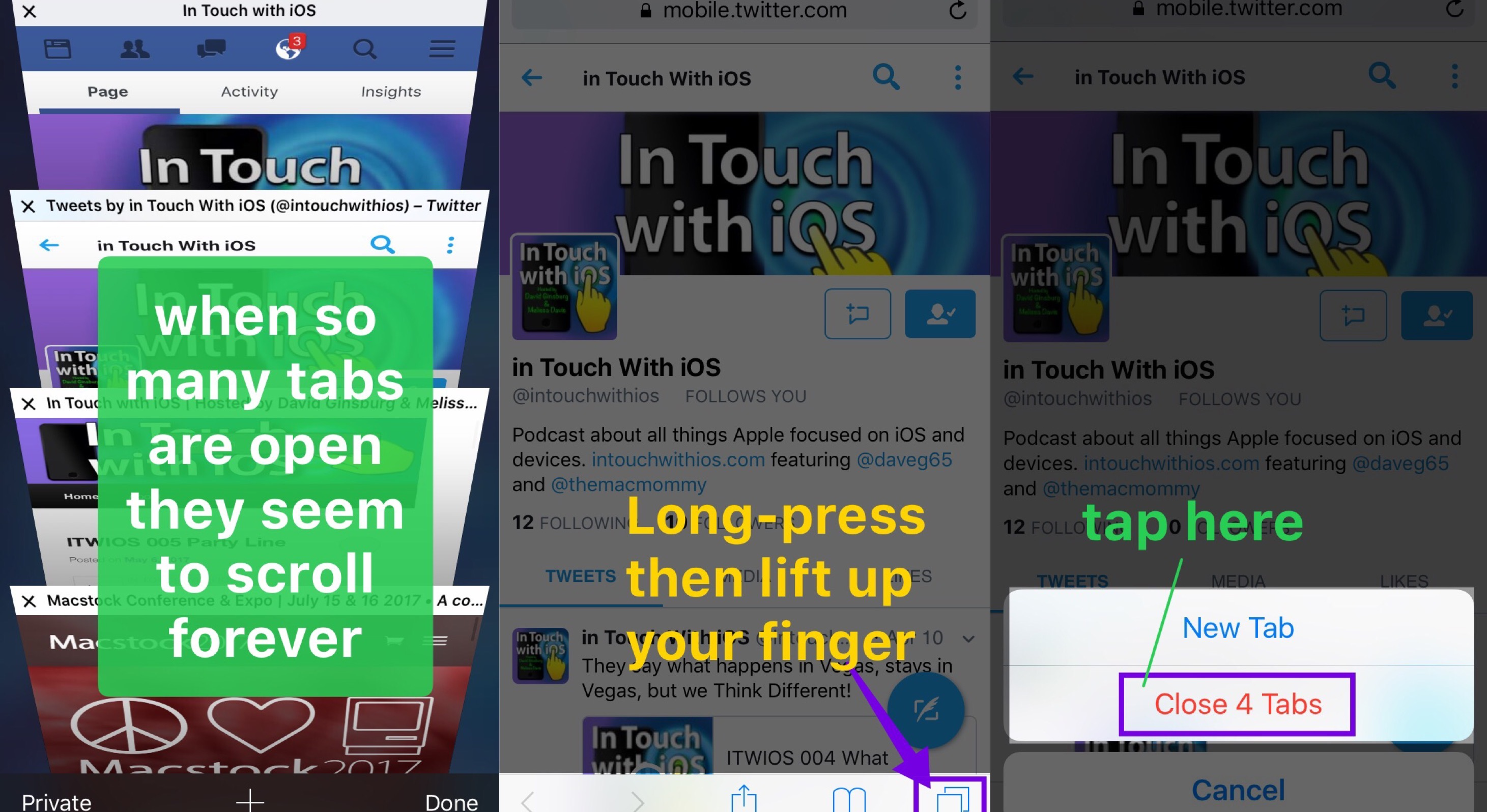 iOS Tip Close All Tabs in Safari