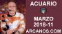 Artwork for ACUARIO MARZO 2018-11-11 al 17 Mar 2018-Amor Solteros Parejas Dinero Trabajo-ARCANOS.COM