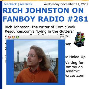 Fanboy Radio #281 - Rich Johnston LIVE