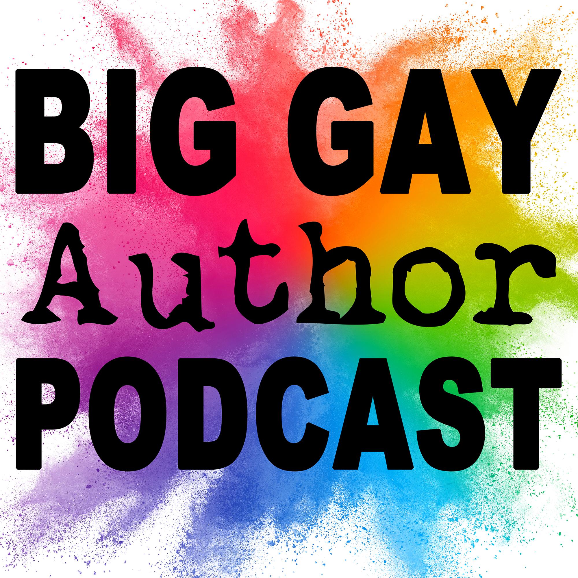 Big Gay Author Podcast show art