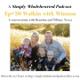 Artwork for #20 Walkin with Winston | a conversation with Brandon and Tiffany Yerxa