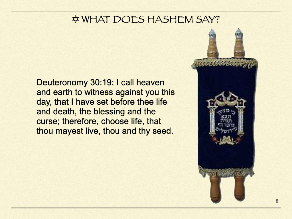 What Does HaShem Say?