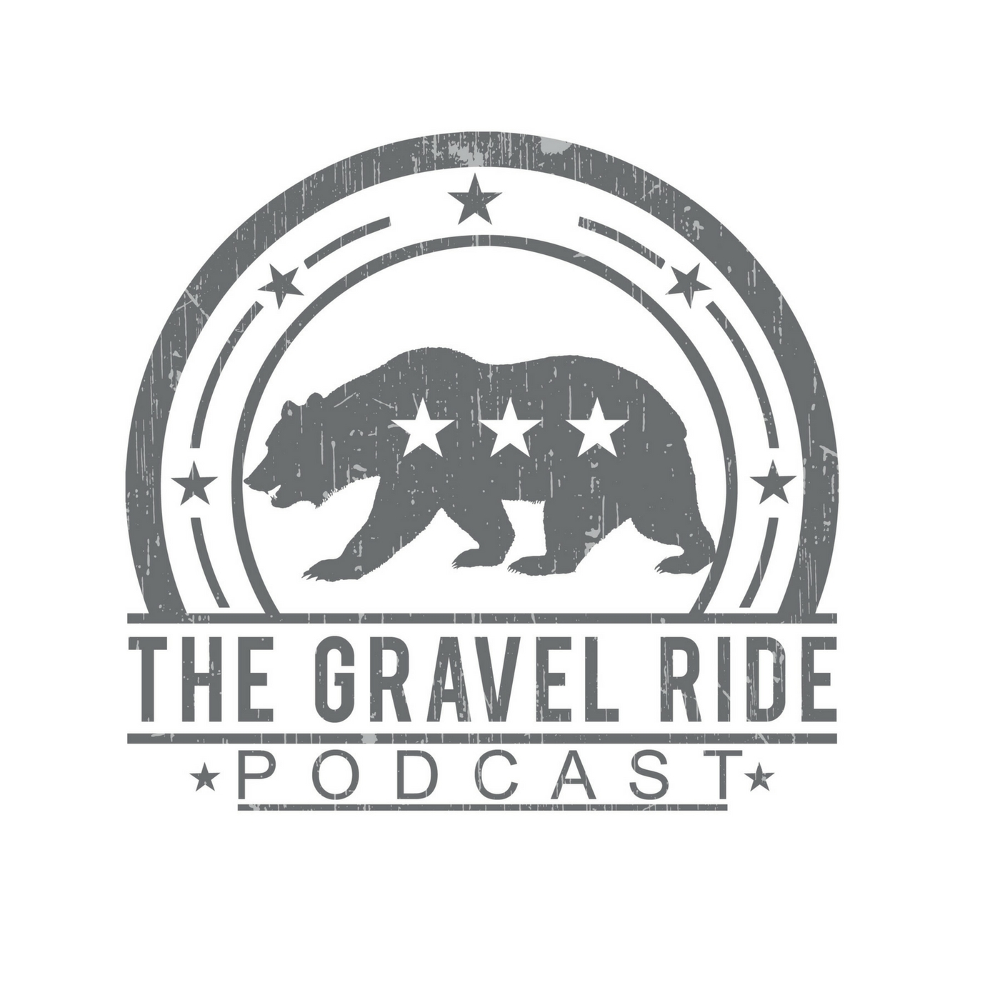 The Gravel Ride.  A cycling podcast show art