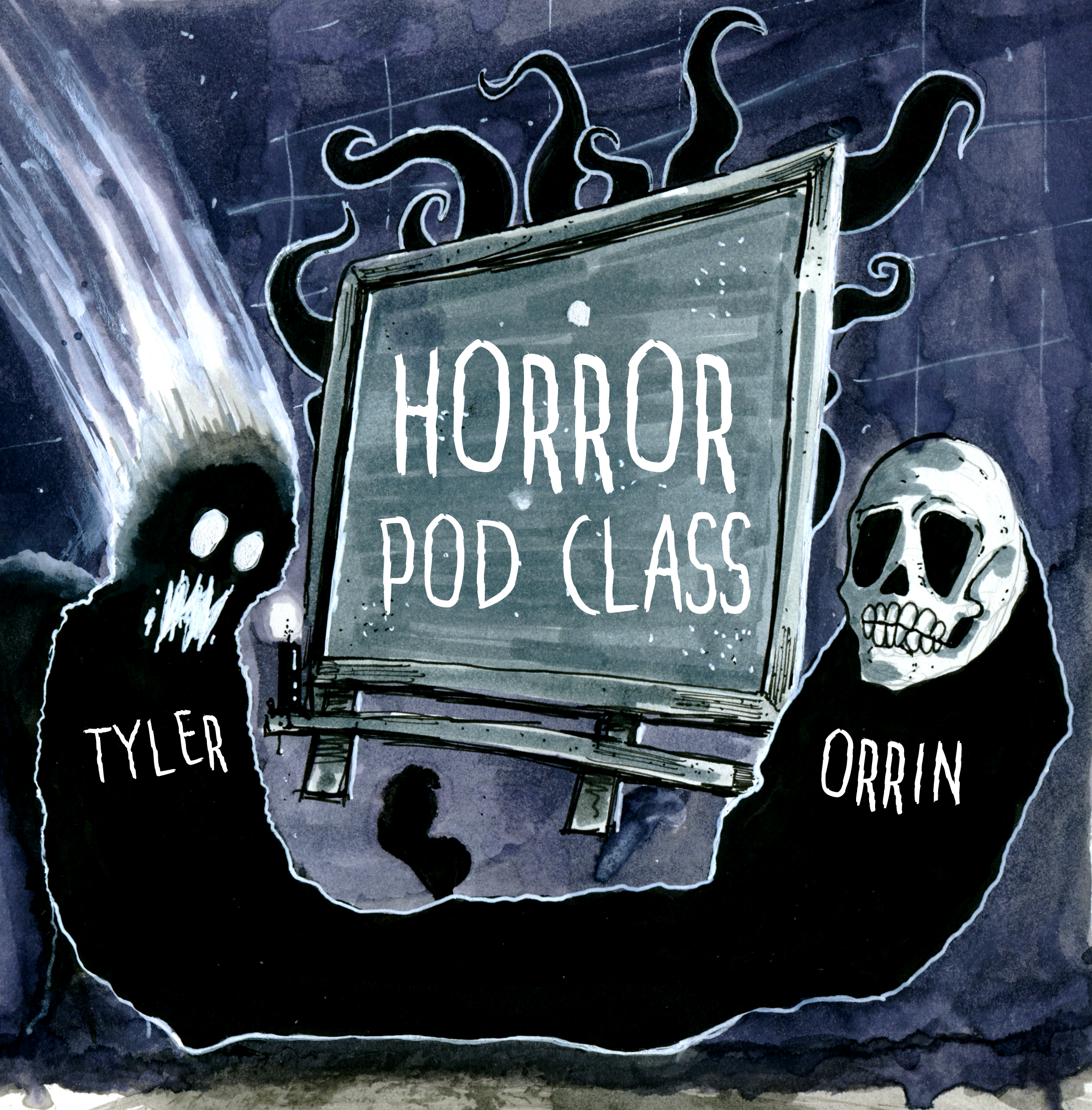The Horror Pod Class show art