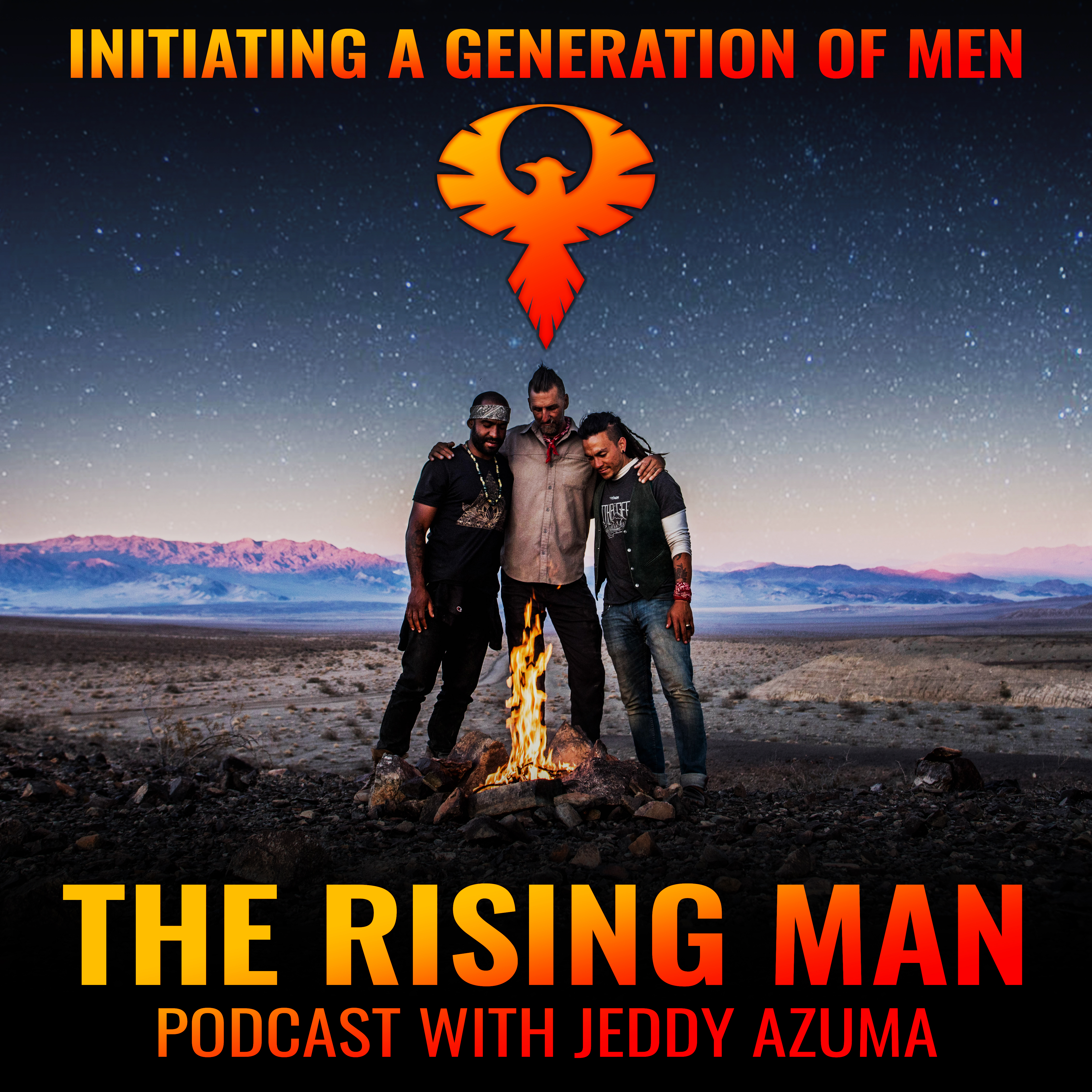 The Rising Man Podcast show art