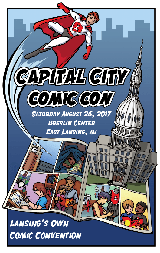 2017 Capital City Comic Con Poster