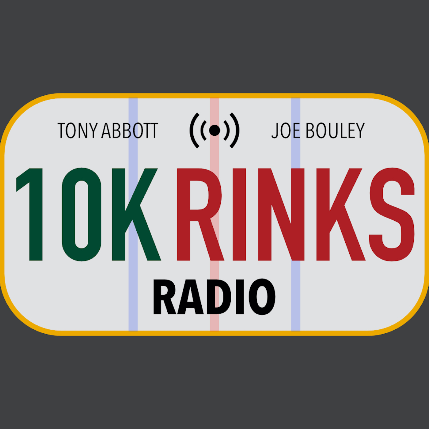 10K Rinks Radio - A Minnesota Wild Podcast show art