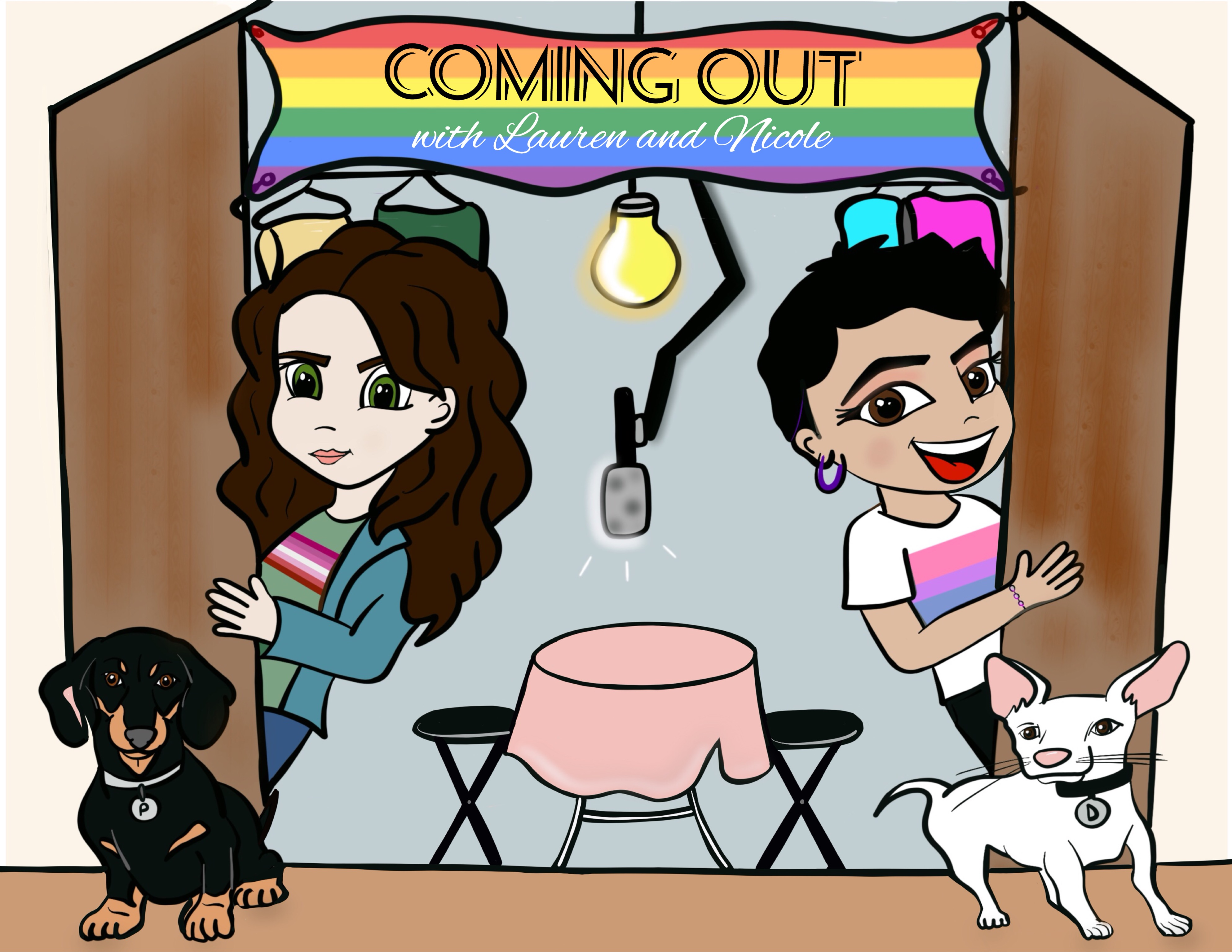 Coming Out with Lauren & Nicole show art