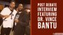 Artwork for Post Debate Interview with Dr. Vince Bantu