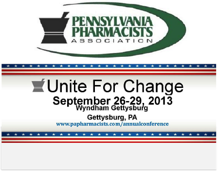 Pharmacy Podcast Episode 109 Pennsylvania Pharmacist Association Unite for Change 2013