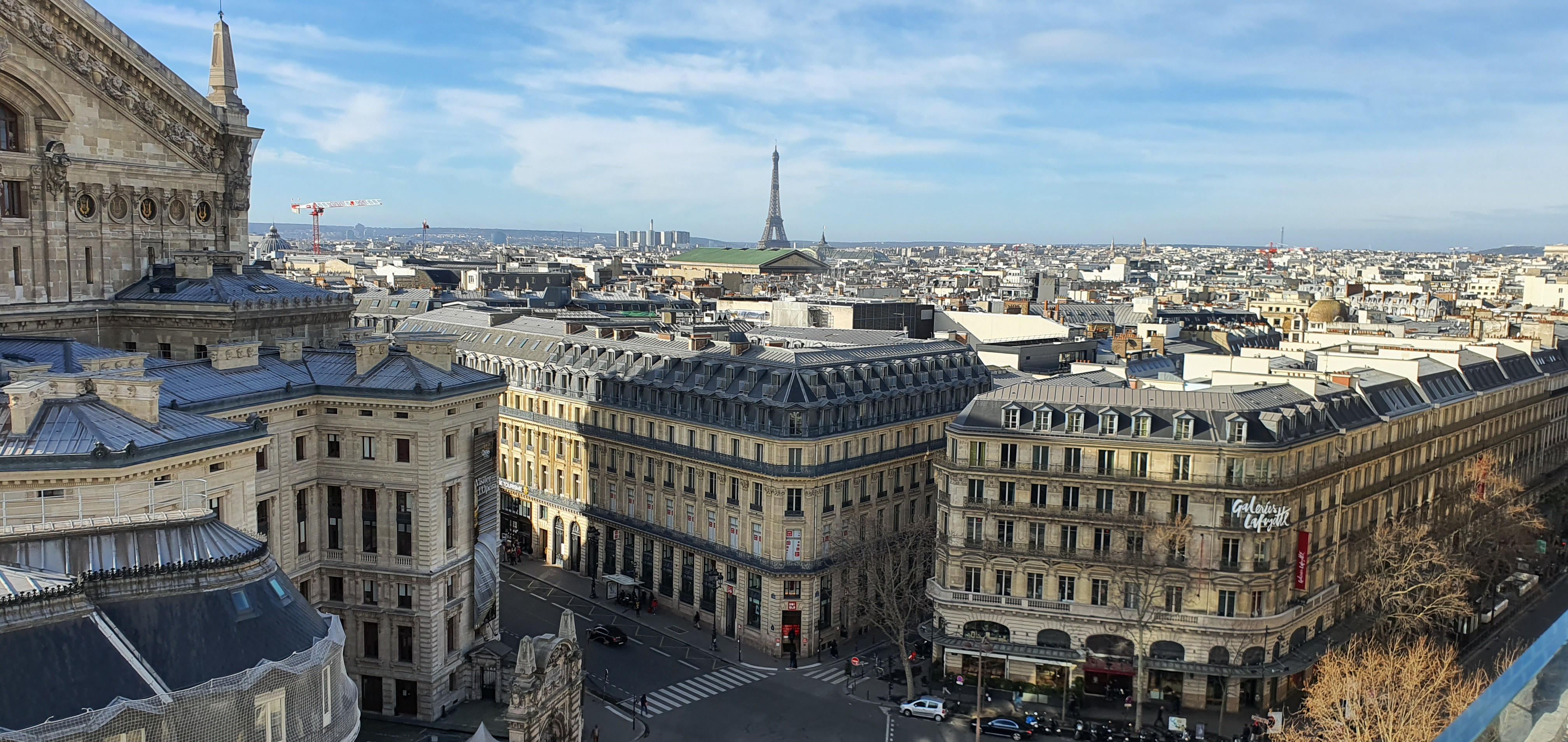 View from the rooftop of the Galeries Lafayette