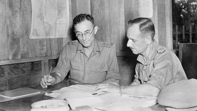 LT COL Anderson in his HQ in Malaya