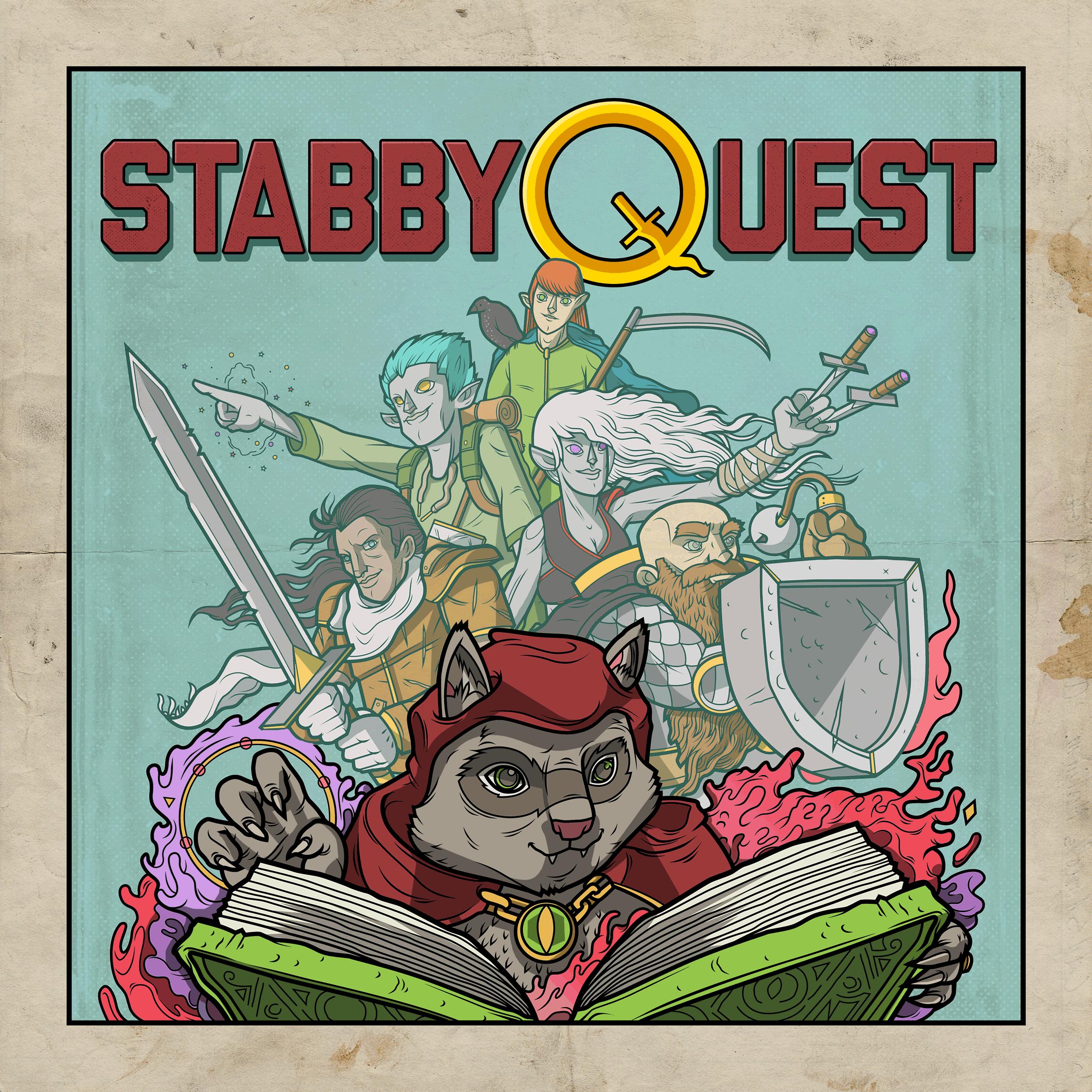 StabbyQuest show art