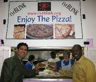 Obaid Kadwani Puts on Pizza Parties for the Hungry