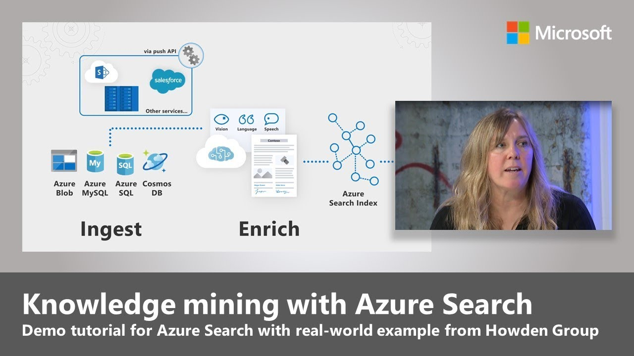 Artwork for Knowledge mining with Azure Search