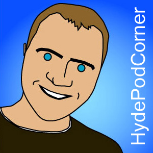 Hyde Pod Corner Podcast, Comedy, Music and Chat show art