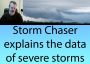 Artwork for Storm Chaser explains the data of severe storms