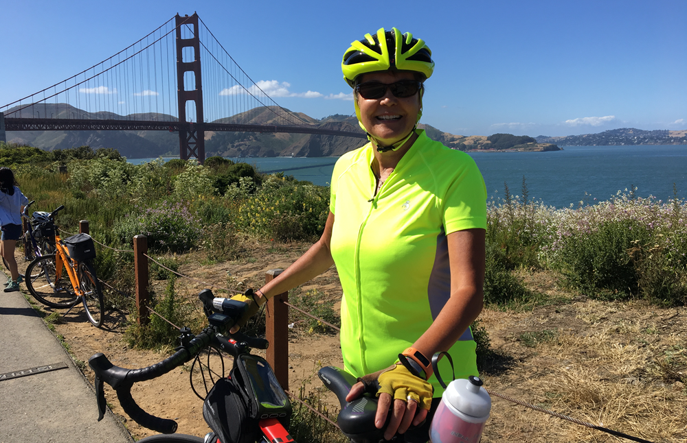 Tracy At Golden Gate Bridge
