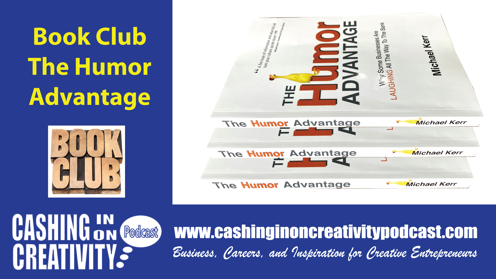 CC255 The Humor Advantage: Book of the Month