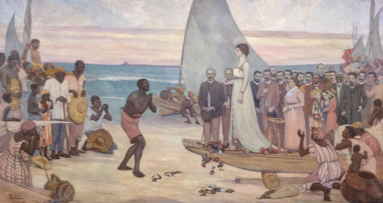 Pintura criada em 1938, pelo pintor cearense Raimundo Cela, sobre a Abolição da escravatura para o Palácio do Governo do Estado, em Fortaleza