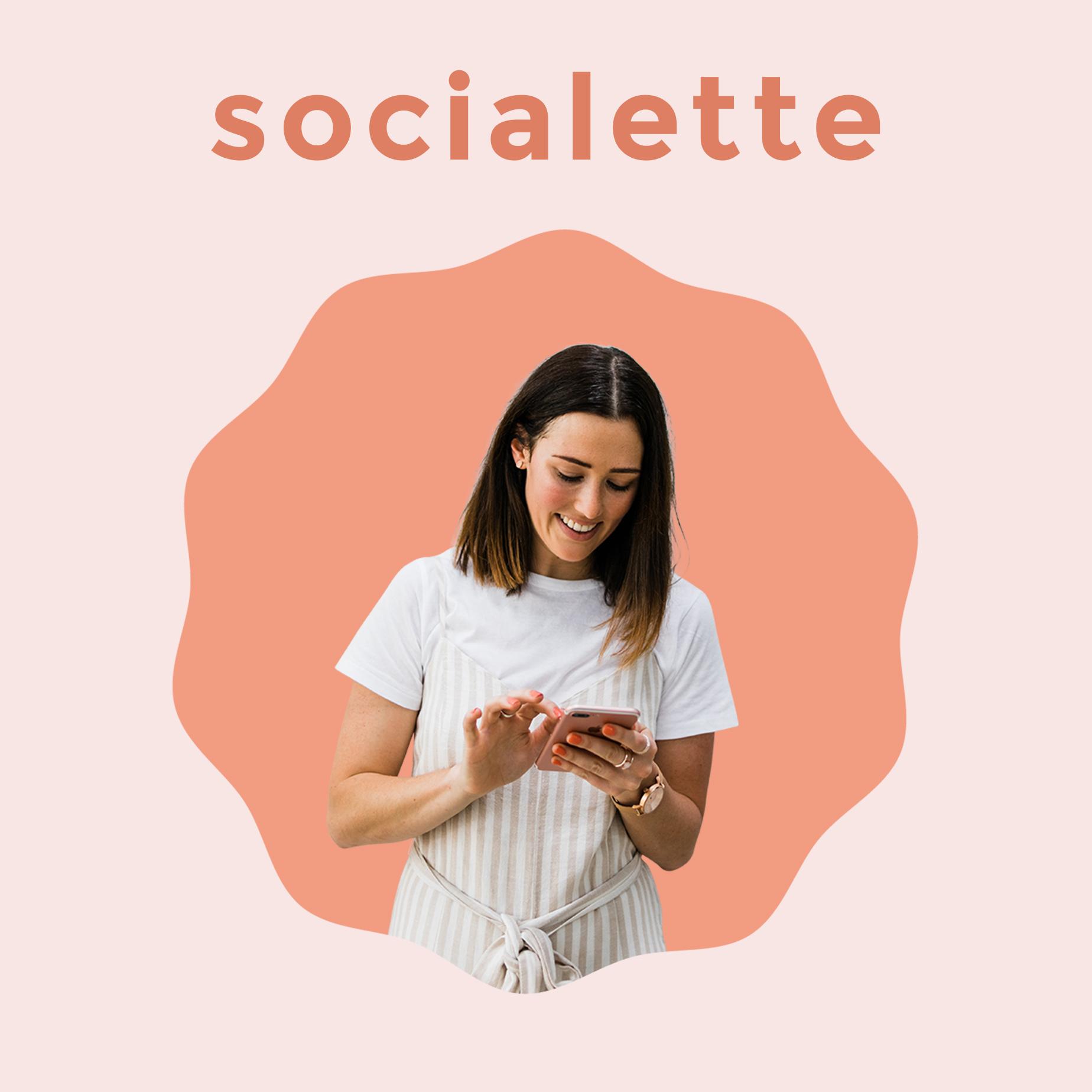 Socialette: Bite-Sized Online Marketing Podcast show art