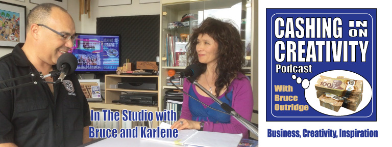 Bruce and Karlene in the studio