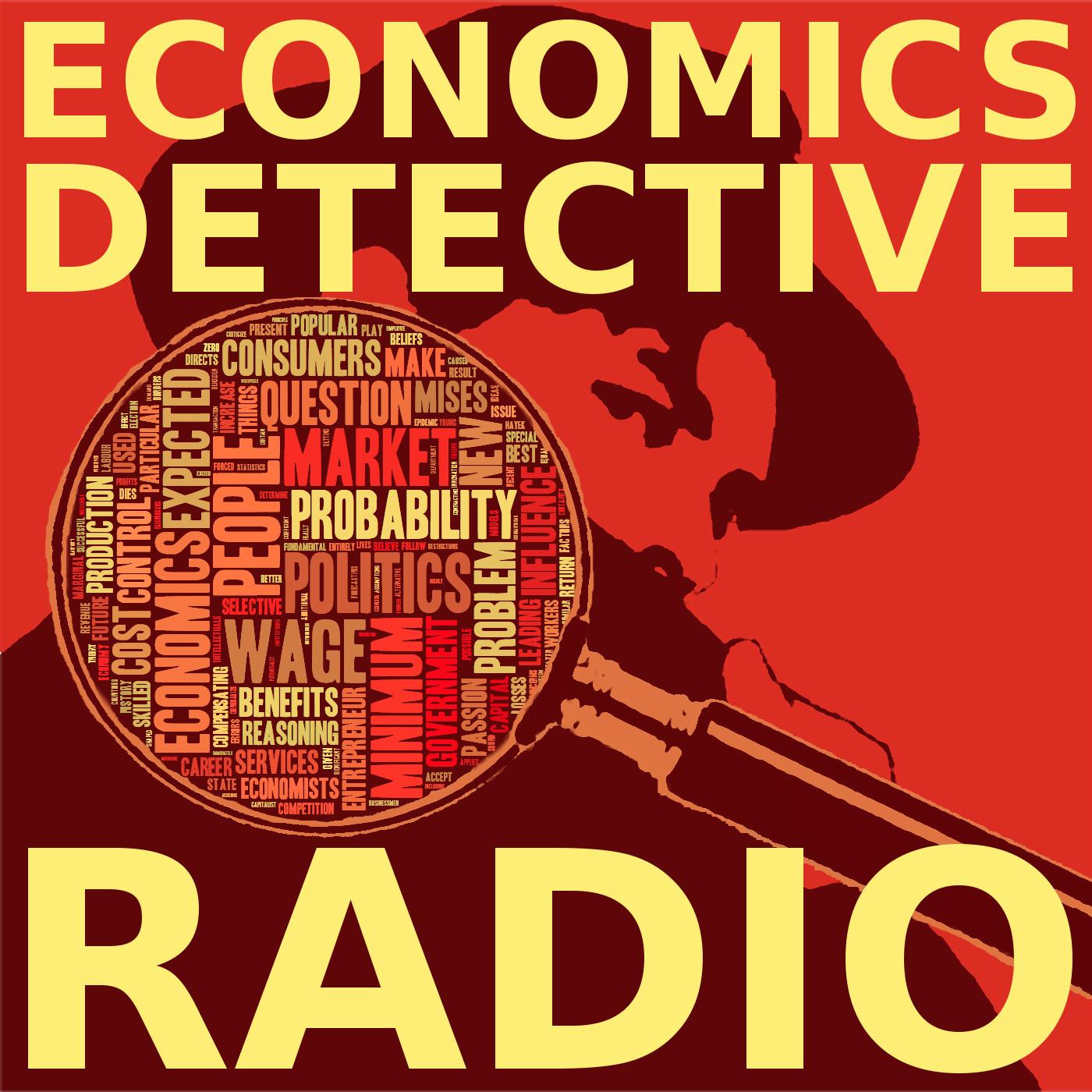 Economics Detective Radio show art