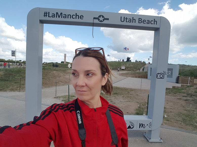 Sharon Fitzgerald at Utah Beach