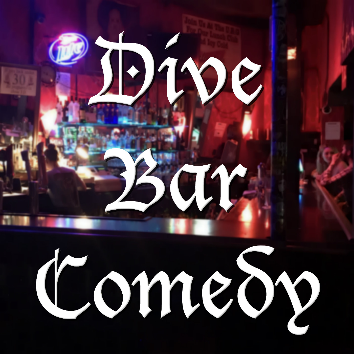Dive Bar Comedy show art