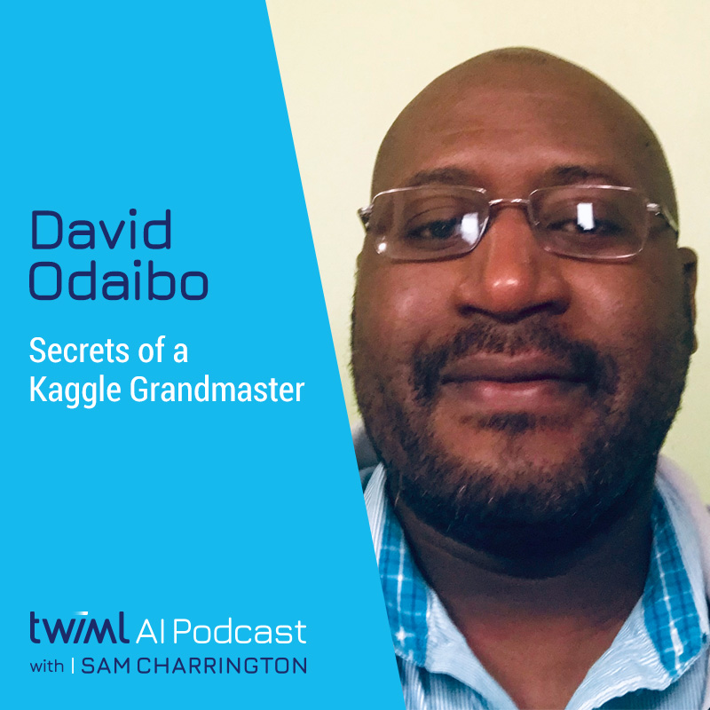 Secrets of a Kaggle Grandmaster with David Odaibo - #354 show art
