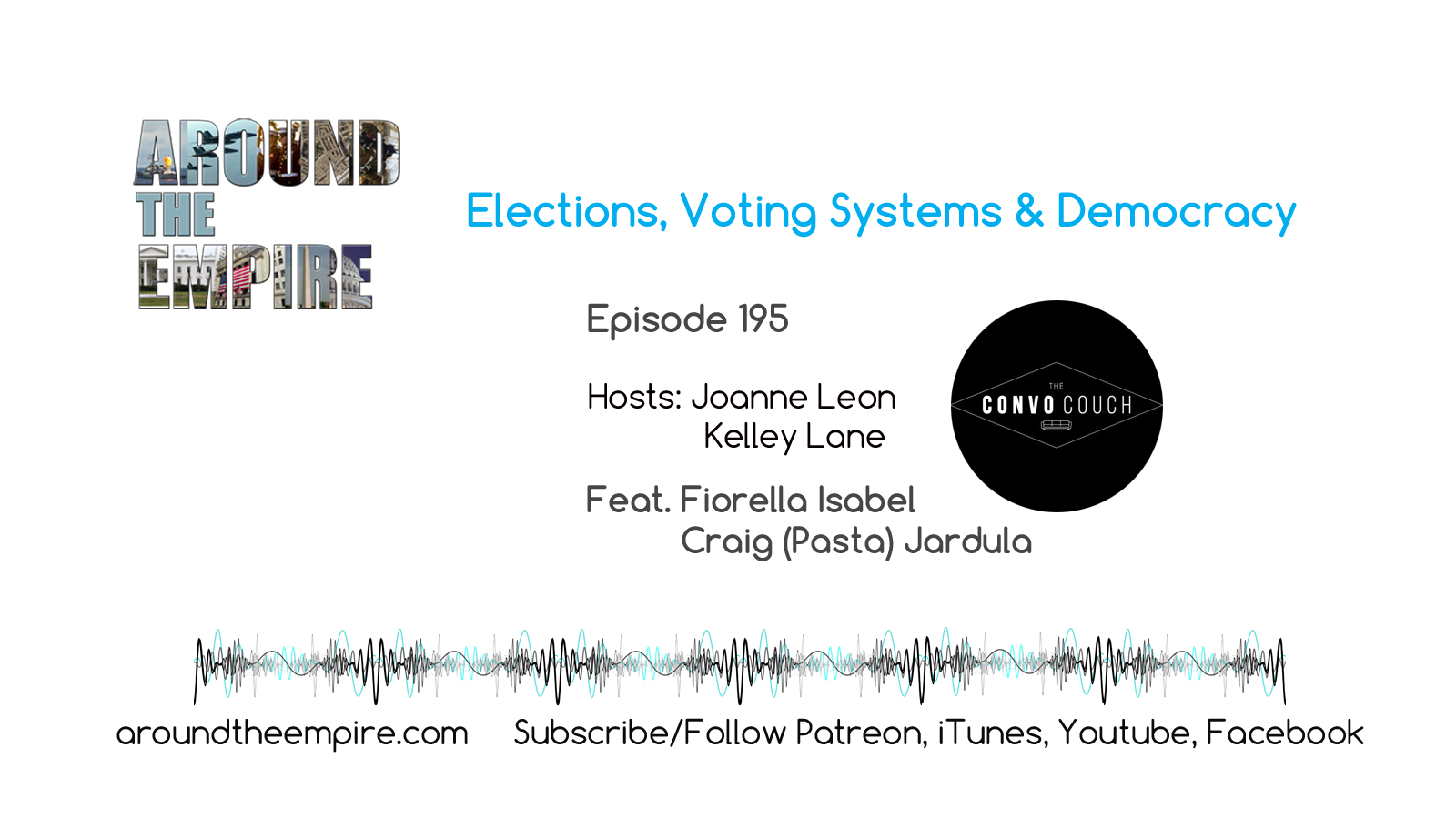 Ep 195 Elections, Voting Systems & Democracy feat Fiorella Isabel & Craig (Pasta) Jardula