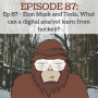 Artwork for Ep 87 - Elon musk and tesla, What can a digital analyst learn from hockey?