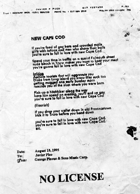 """SONG SNATCH #97- """"New Cape Cod"""" by Red Peters with The Alan Pinchloaf Singers"""