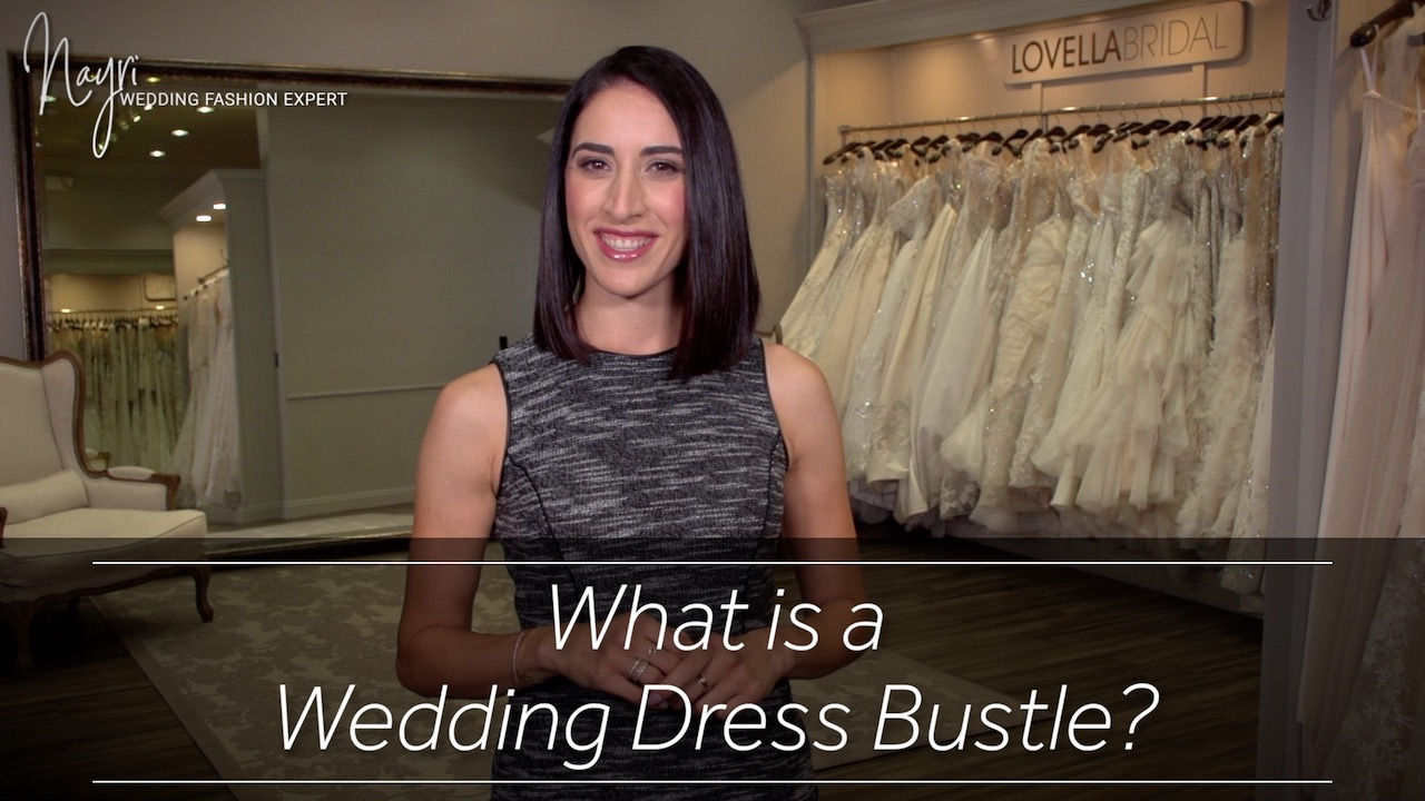 Artwork for What is a Wedding Dress Bustle?