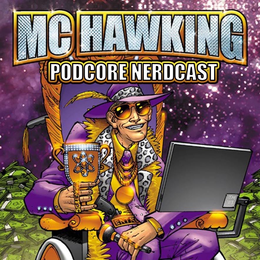 MC Hawking's Podcore Nerdcast logo