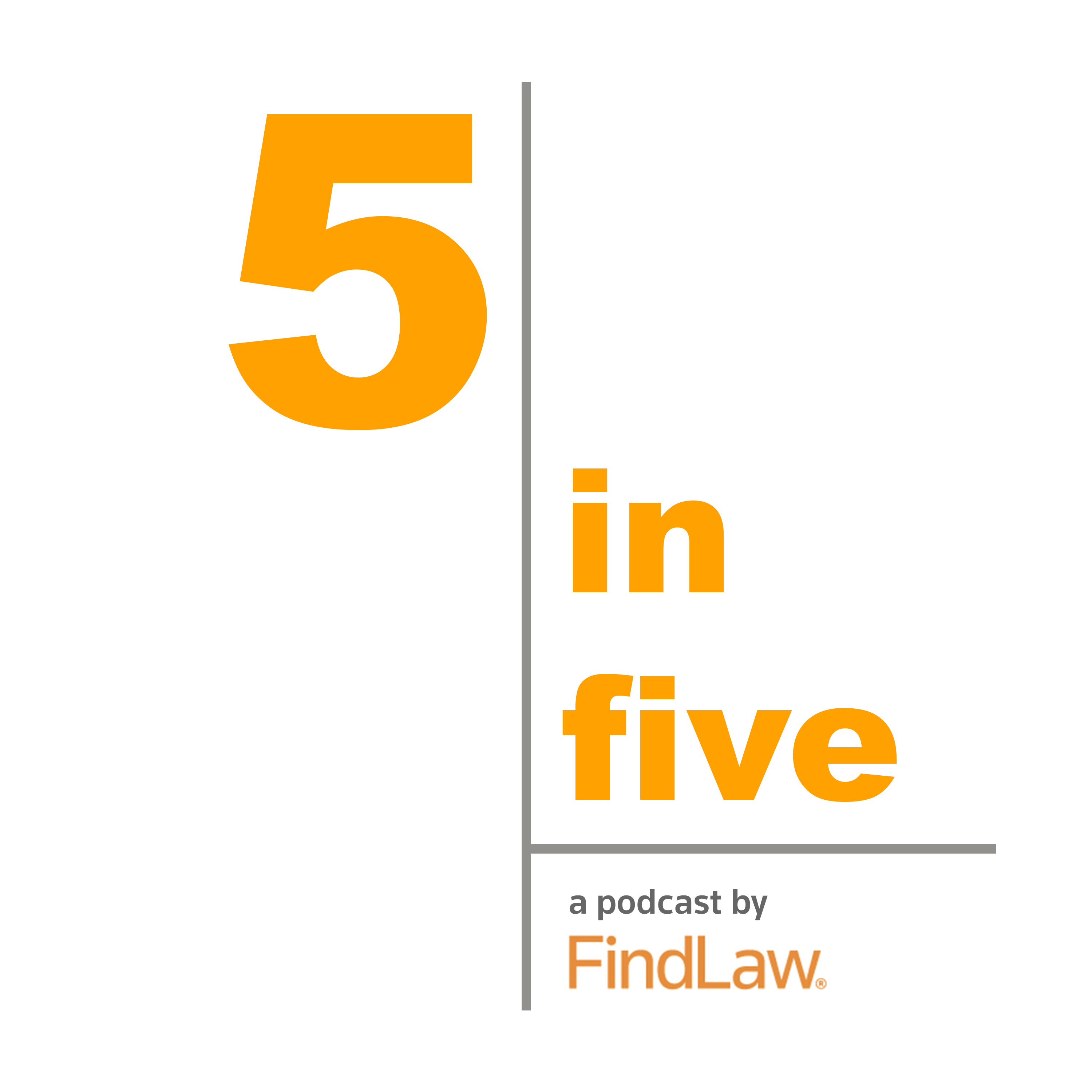 FindLaw's 5in5 Podcast show art