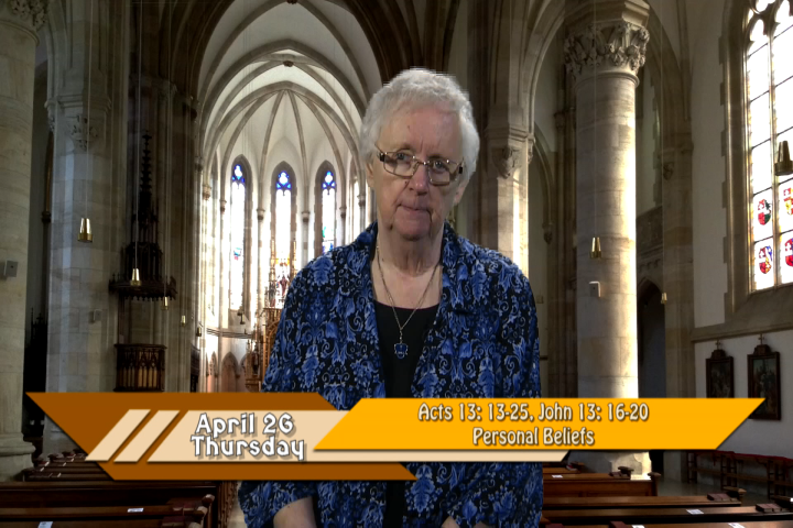 Artwork for iGod Today with Sr. Pat Phillips, SHCJ;  Today's topic:  Personal Beliefs