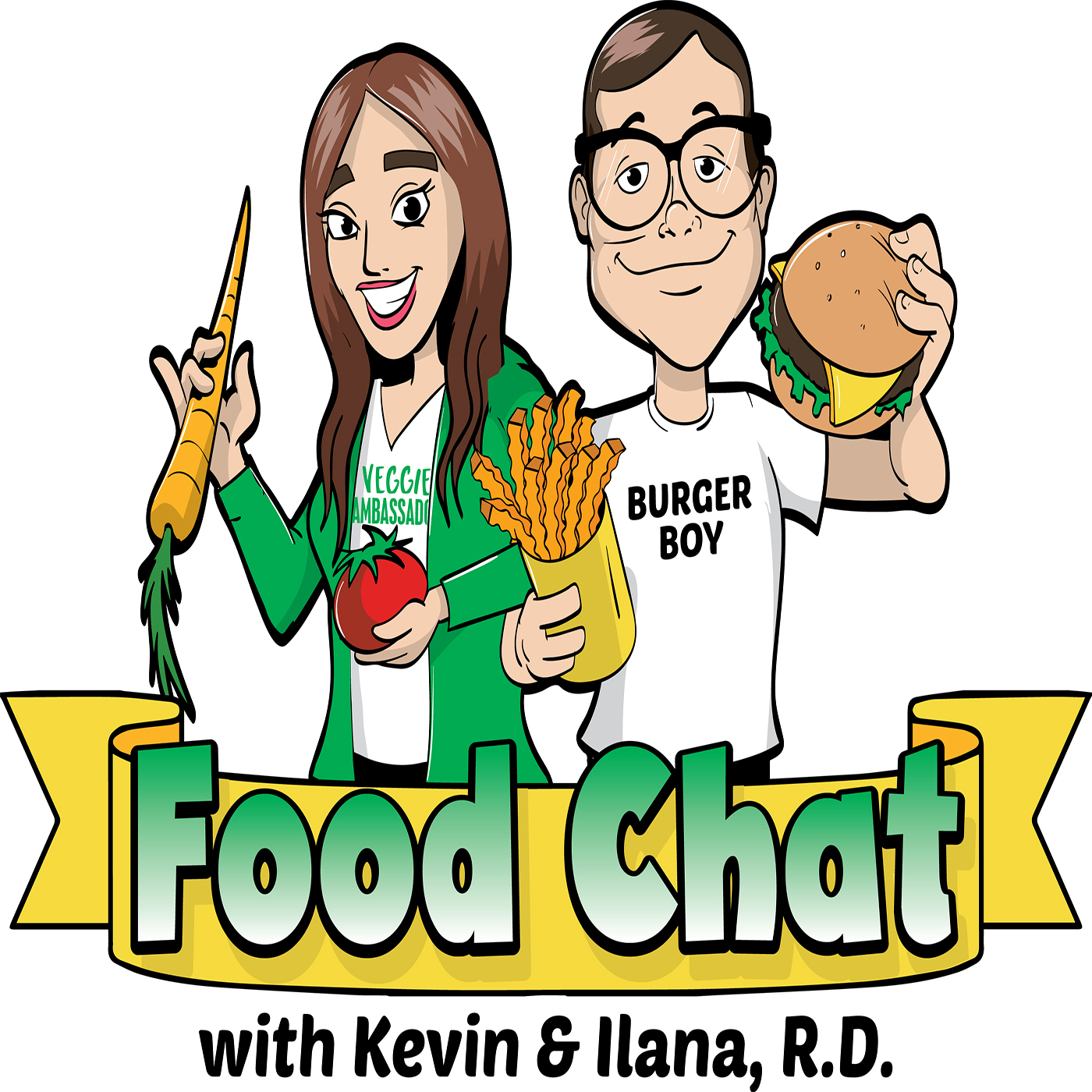 Food Chat with Kevin and Ilana R.D. show art