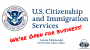 Artwork for USCIS is OPEN for Business!