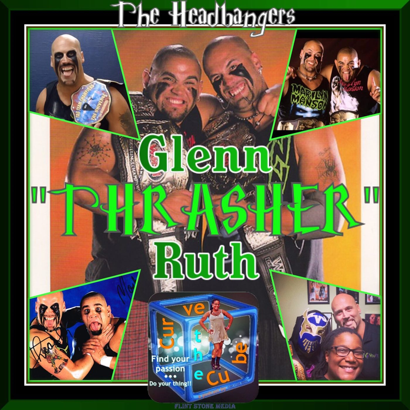 "Former Pro-Wrestling Champion Glenn ""Thrasher"" Ruth of The Headbangers on the Curve the Cube Podcast"