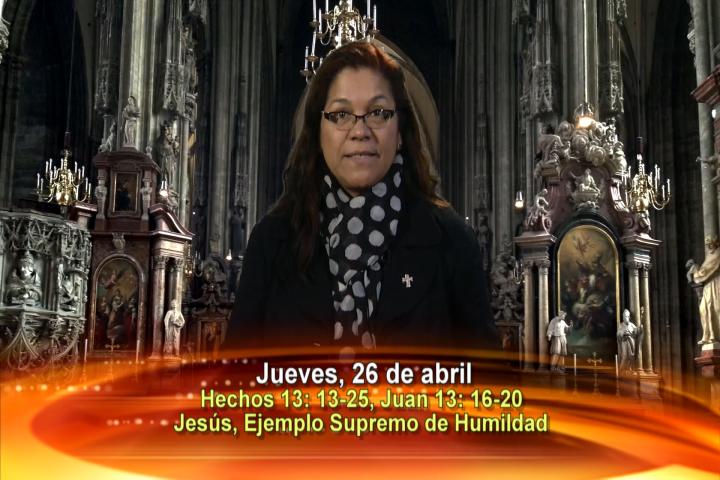 Artwork for Dios te Habla con Angela Valencia;  Tema el hoy: Jesús, ejemplo supremo de humildad