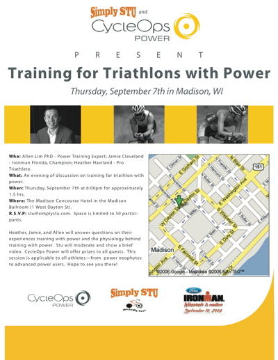 Ironman Wisconsin Clinic