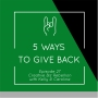 Artwork for Throwback - Episode 27 - 5 Ways to Give Back
