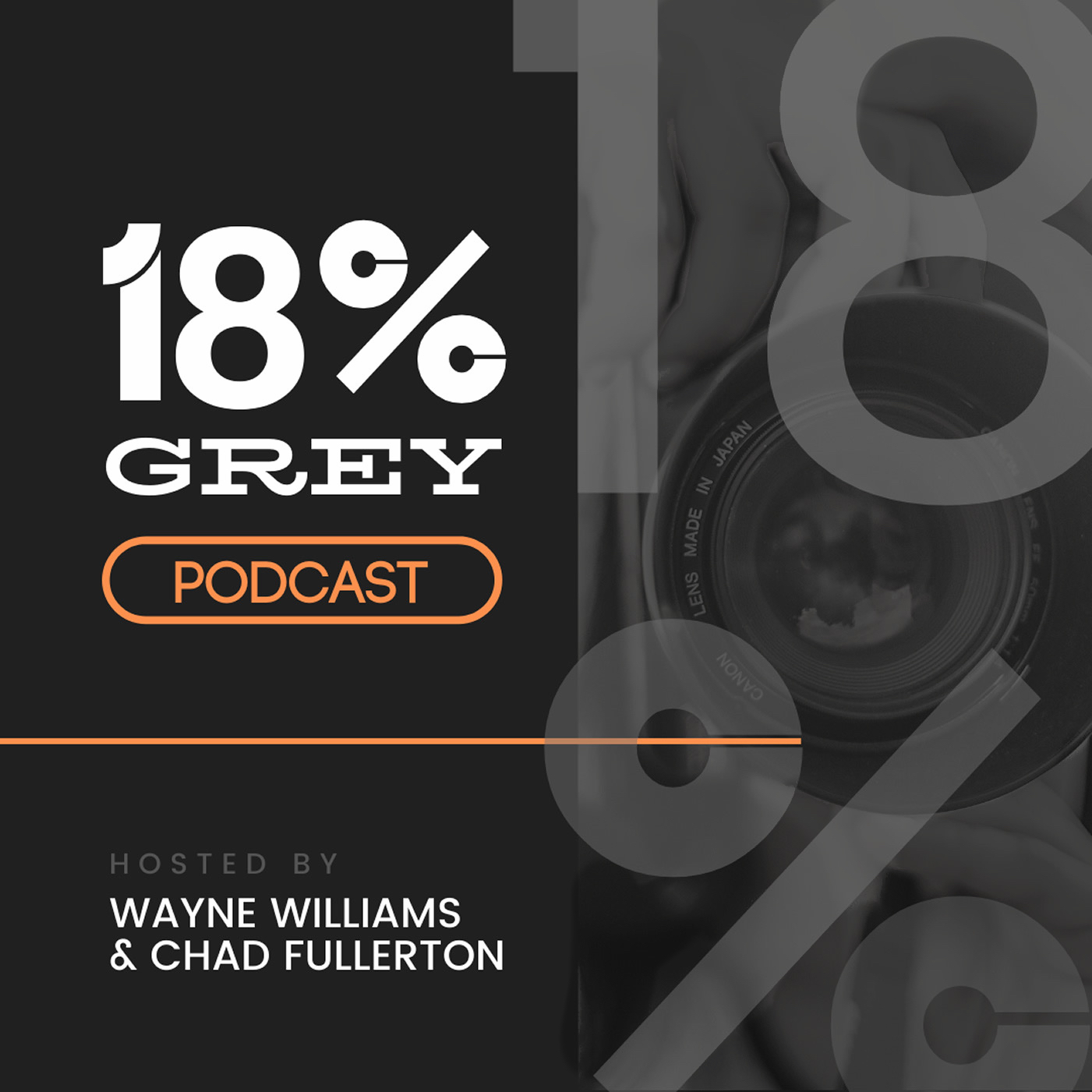 Artwork for 001: Welcome to The 18% Grey Podcast, plus news about the Canon R5!