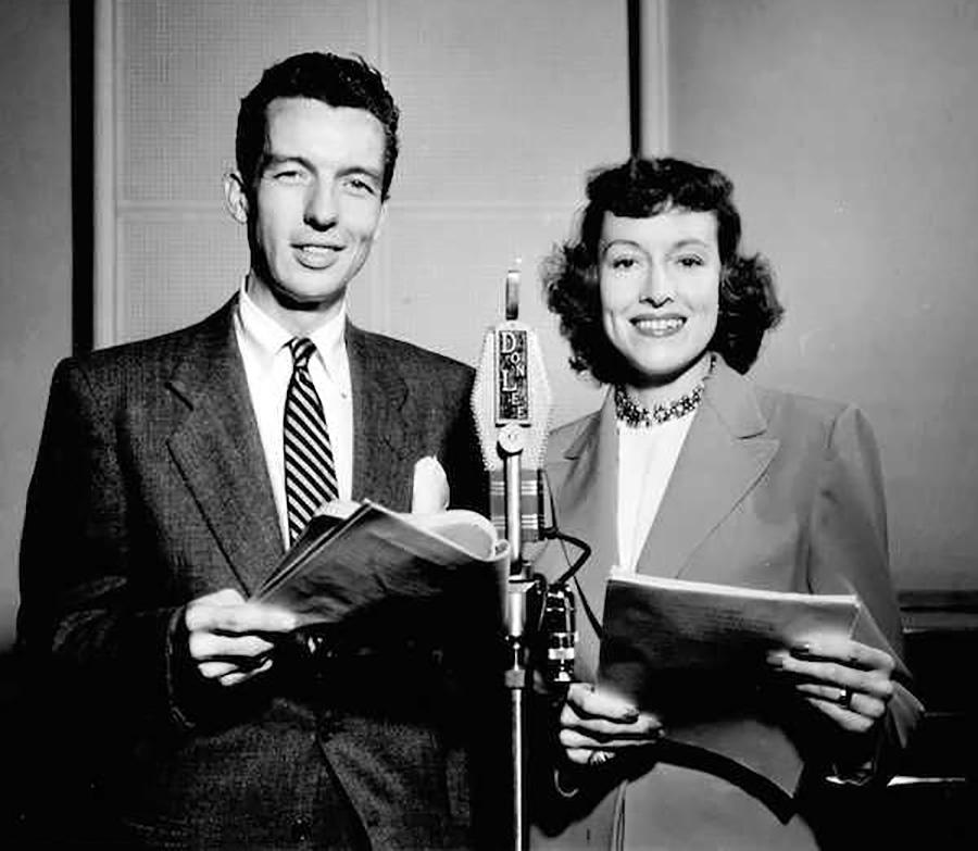Virginia Gregg and Bob Bailey