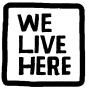 Artwork for We Live Here: Happy Holidays! Let's talk about race and religion