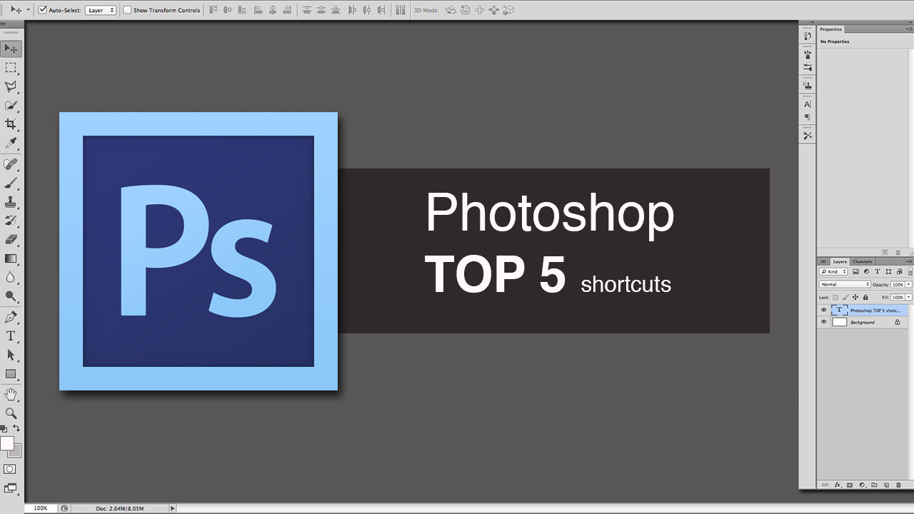 Work faster in photoshop using shortcuts